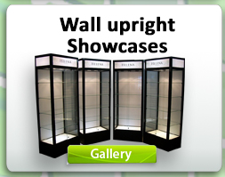 Wall upright Showcases
